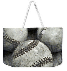 Old Baseballs Pencil Weekender Tote Bag by Edward Fielding