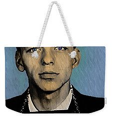 Old Blue Eyes - Frank Sinatra Weekender Tote Bag by Simon Wolter