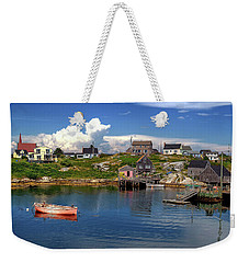 Weekender Tote Bag featuring the photograph Old Boat At Peggy's Cove by Rodney Campbell