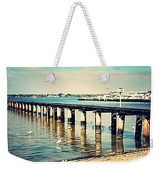 Old Fort Myers Pier With Ibises Weekender Tote Bag by Carol Groenen