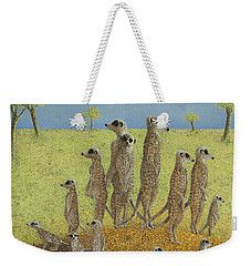 On The Lookout Weekender Tote Bag by Pat Scott