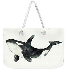 Orca From Arctic And Antarctic Chart Weekender Tote Bag by Amy Hamilton