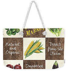 Organic Market Patch Weekender Tote Bag by Debbie DeWitt