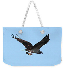Osprey With Fish Weekender Tote Bag by Carol Groenen
