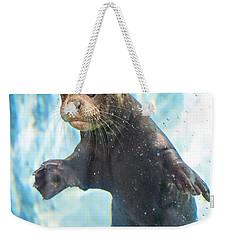 Otter Cuteness Weekender Tote Bag by Jamie Pham