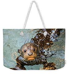 Otter Pup Weekender Tote Bag by Jamie Pham
