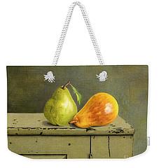 Pair Of Pears Weekender Tote Bag by Sarah Batalka