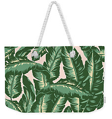Palm Print Weekender Tote Bag by Lauren Amelia Hughes