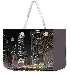 Panoramic Lakefront View In Chicago Weekender Tote Bag by Frozen in Time Fine Art Photography
