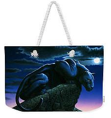 Panther On Rock Weekender Tote Bag by MGL Studio - Chris Hiett
