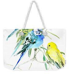 Parakeets Weekender Tote Bag by Suren Nersisyan