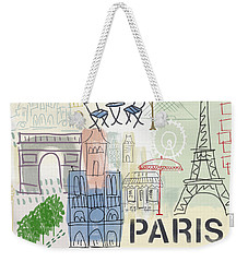 Paris Cityscape- Art By Linda Woods Weekender Tote Bag by Linda Woods
