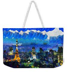 Paris Inside Tokyo Weekender Tote Bag by Sir Josef Social Critic - ART