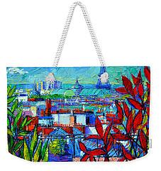 Paris Rooftops - View From Printemps Terrace   Weekender Tote Bag by Mona Edulesco
