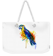 Parrot Watercolor  Weekender Tote Bag by Marian Voicu