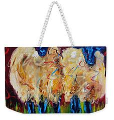Party Sheep Weekender Tote Bag by Diane Whitehead
