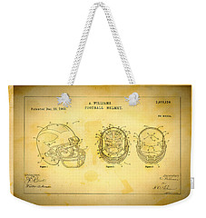 Patent Art Michigan Helmet Weekender Tote Bag by Big 88 Artworks