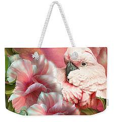 Peek A Boo Cockatoo Weekender Tote Bag by Carol Cavalaris