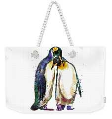 Penguin Couple Weekender Tote Bag by Marian Voicu