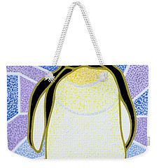Penguin On Stained Glass Weekender Tote Bag by Pat Scott