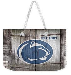 Penn State // Old Barn Doors Weekender Tote Bag by Tim Miklos