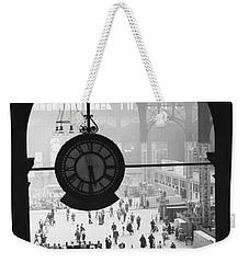 Penn Station Clock Weekender Tote Bag by Van D Bucher and Photo Researchers