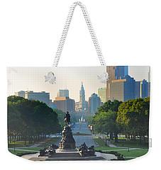 Philadelphia Benjamin Franklin Parkway Weekender Tote Bag by Bill Cannon