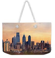 Philadelphia Skyline Weekender Tote Bag by Lori Deiter