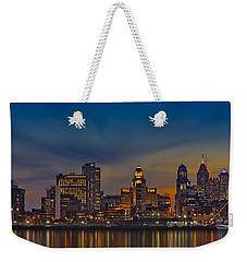 Philadelphia Skyline Panorama Weekender Tote Bag by Susan Candelario