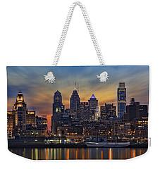 Philadelphia Skyline Weekender Tote Bag by Susan Candelario