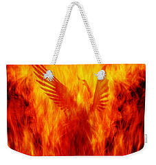 Phoenix Rising Weekender Tote Bag by Andrew Paranavitana