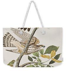 Pigeon Hawk Weekender Tote Bag by John James Audubon