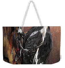 Pileated Woodpecker Art Weekender Tote Bag by Lourry Legarde