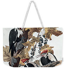 Pileated Woodpeckers Weekender Tote Bag by John James Audubon