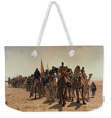 Pilgrims Going To Mecca Weekender Tote Bag by Leon Auguste Adolphe Belly
