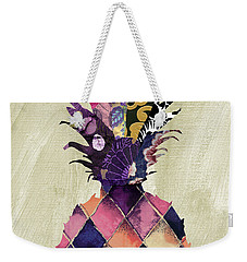 Pineapple Brocade II Weekender Tote Bag by Mindy Sommers