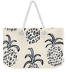 Pineapple Print Weekender Tote Bag by Anne Seay
