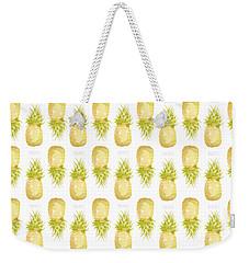 Pineapple Print Weekender Tote Bag by Cindy Garber Iverson