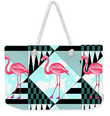 Ping Flamingo Weekender Tote Bag by Mark Ashkenazi