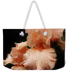 Pink Iris 1 Weekender Tote Bag by Bruce Bley