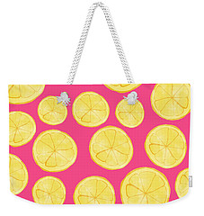 Pink Lemonade Weekender Tote Bag by Allyson Johnson