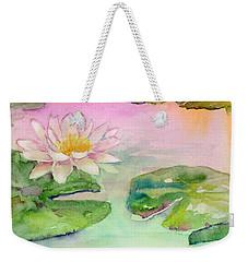 Pink Pond Weekender Tote Bag by Amy Kirkpatrick