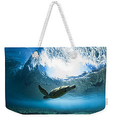 Pipe Turtle Glide Weekender Tote Bag by Sean Davey