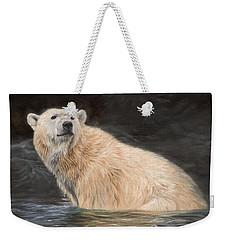 Polar Bear Weekender Tote Bag by David Stribbling