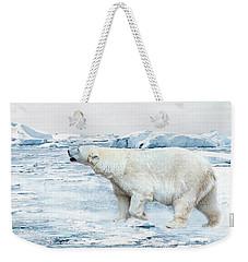 Polar Bear Weekender Tote Bag by Heike Hultsch