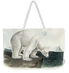 Polar Bear Weekender Tote Bag by John James Audubon