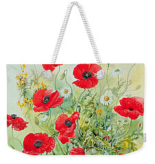 Poppies And Mayweed Weekender Tote Bag by John Gubbins