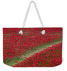 Poppies Of Remembrance Weekender Tote Bag by Martin Newman