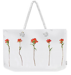 Poppy Blossoms Weekender Tote Bag by Brittany Bevis