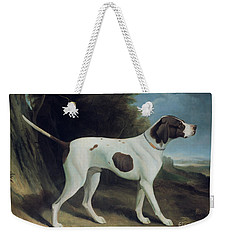 Portrait Of A Liver And White Pointer Weekender Tote Bag by George Garrard